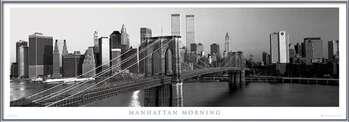 Poster Manhattan - morning b&w