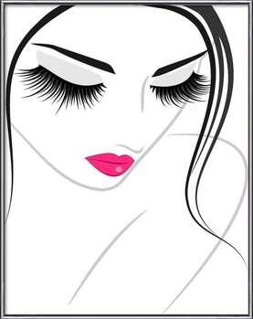 Gerahmte Poster  Lash extension beauty icon