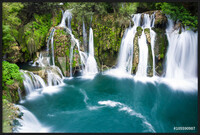 Gerahmte Poster  Waterfalls of Martin Brod on Una national park, Bosnia and Herzegovina
