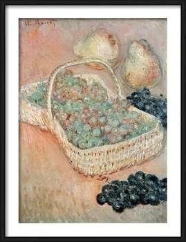 Gerahmte Poster  Claude Monet - The Basket of Grapes, 1884