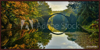 Gerahmte Poster  Amazing place in Germany - Rakotzbrucke also known as Devils Bridge in Kromlau