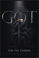 Gerahmte Poster  Game of Thrones - Jon For The Throne