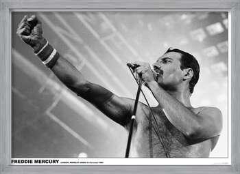 Gerahmte Poster Freddie Mercury - Wembley 1984