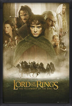 Gerahmte Poster LORD OF THE RINGS - fellowship