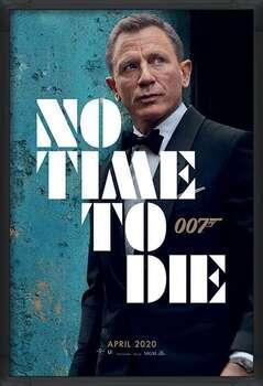 Gerahmte Poster James Bond - No Time To Die - Azure Teaser
