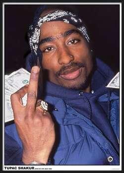 Gerahmte Poster Tupac - Finger
