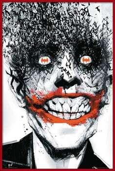 Gerahmte Poster BATMAN Comic - Joker Bats