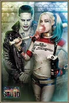 Gerahmte Poster Suicide Squad - Joker and Harley Quinn