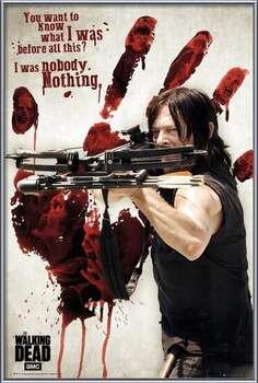 Gerahmte Poster Walking Dead - Bloody Hand Daryl