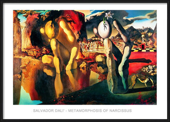 Gerahmte Poster Salvador Dali - Metamorphosis Of Narcissus