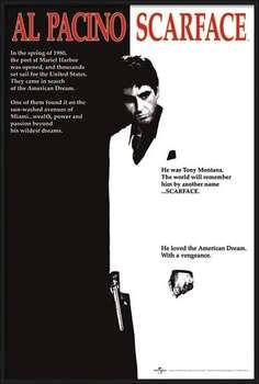 Gerahmte Poster Scarface - movie