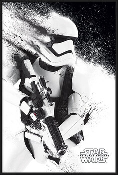 Gerahmte Poster Star Wars Episode VII: The Force Awakens - Stormtrooper Paint