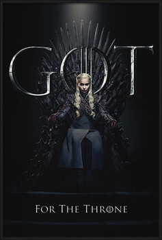 Gerahmte Poster Game Of Thrones - Daenerys For The Throne