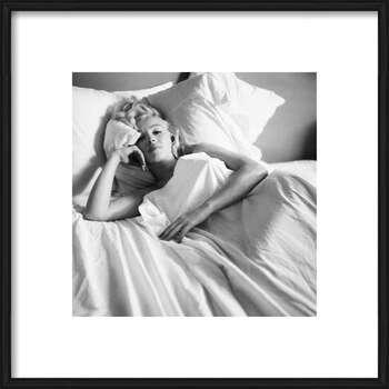 Gerahmte Poster Marilyn Monroe - Bed