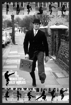 Gerahmte Poster Monty Python - the ministry of silly walks