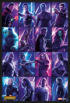 Gerahmte Poster Avengers: Infinity War - Heroes