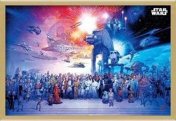 Gerahmte Poster Star Wars - Universe