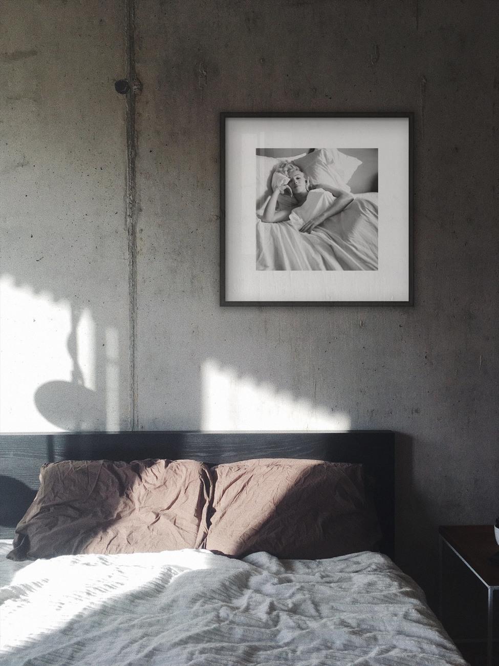 Marilyn Monroe - Bed Kunstdruck